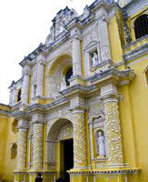 Guatemala La-Merced Antigua colonial architechture