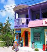 Guatemala colorful beachfront houses