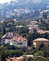 Hungary Budapest Buda Hill houses