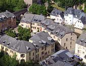 Luxembourg old town houses