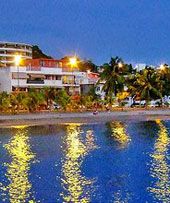 Martinique waterfront houses