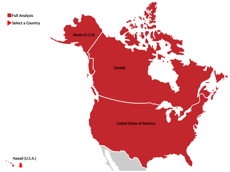 North-America map